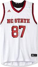 adidas NC State Wolfpack NCAA 87 White Replica Basketball Jersey