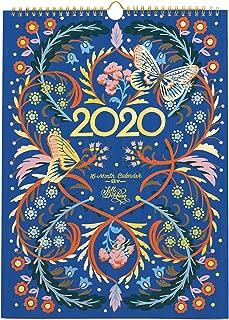 High Note 16-Month 2020 Designer Wall Calendar Floral Typography by Jill De Haan