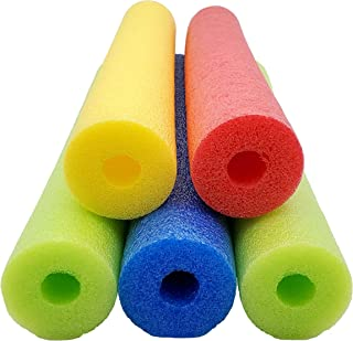 Fix Find - Pool Noodles - 5 Pack of Large 52 Inch Hollow Foam Pool Swim Noodles