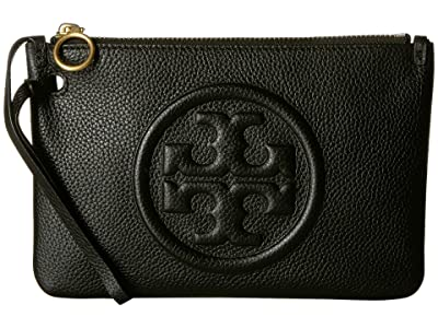 Tory Burch Perry Bombe Wristlet (Black) Handbags