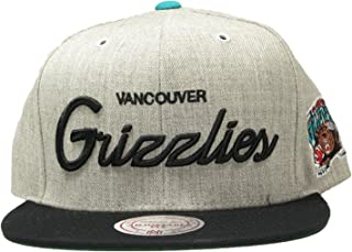 Mitchell and Ness Vancouver Grizzlies Heather Script Throwback Snapback