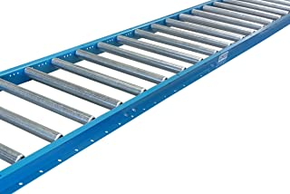 "Gravity Roller Conveyor with 1.5"" Diameter Galvanized Steel Rollers on 3"" Centers. 18"" Wide x 5` Long - Ultimation"