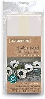 Lia Griffith Double-Sided Crepe Paper, White & Vanilla, Vanilla & Chiffon