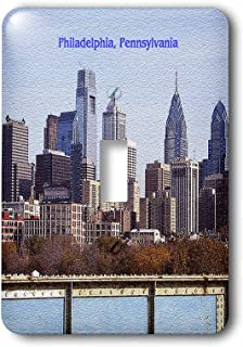 3dRose lsp_55313_1 Philadelphia Skyline (Textured) Toggle Switch