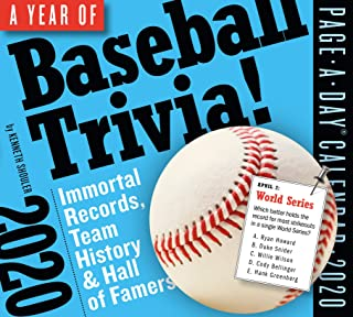 365 Days of Baseball Trivia! Page-A-Day Calendar 2020 [5.5
