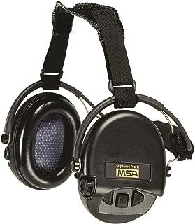 MSA 10149445 Supreme Pro-X Earmuff with Black Neckband, Black Cups with Gel