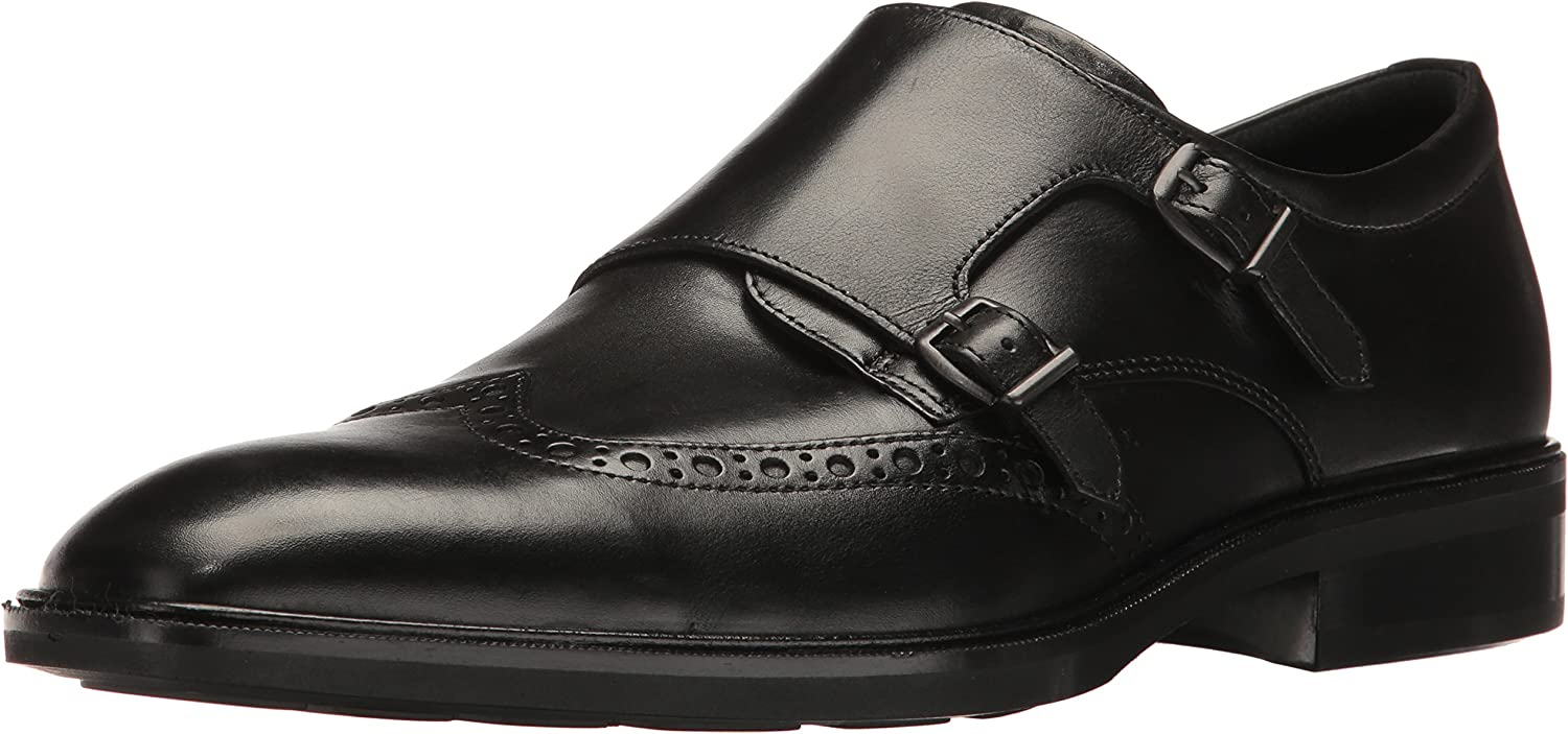 ECCO Men's Illinois Monk Strap Slip-On Loafer, Black, 39 EU/5-5.5 M US B01MQ19DSH  | Modern Und Elegant In Der Mode