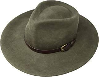 ad0f1405138 Borges   Scott B S Premium Lewis - Wide Brim Fedora Hat - 100% Wool Felt