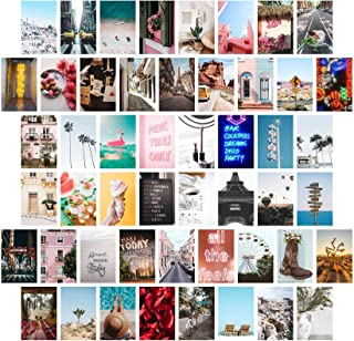 Wall Collage Kit Aesthetic Pictures, Bedroom Decor for Teen Girls, Wall Collage Kit, Collage Kit for Wall Aesthetic, VSCO Girls Bedroom Decor, Aesthetic Posters, Collage Kit (50 Set 4x6 inch)