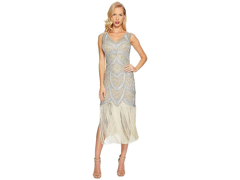 Unique Vintage Isadora Flapper Dress (Silver/Seafoam) Women