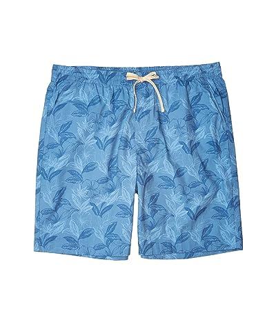 Nautica Big & Tall Big Tall 7 Floral Boardwalk Shorts (Blue) Men