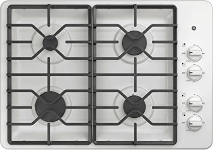 GE JGP3030DLWW 30 Inch Gas Cooktop with MAX System, Power Broil, Simmer, Continuous