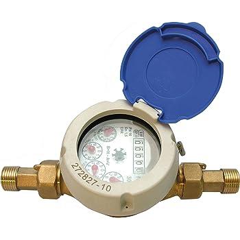con funzione di rotazione WolfGo 15 millimetri 1//2  Cold Meter del contatore dellacqua con coperchio di protezione misura for la casa Giardino Cucina