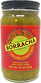 Salsa Borracha Micro-Crafted with Fire Roasted Hatch Green Chile & Blue Agave Tequila, 16-oz