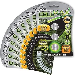 CellMax CM-AG5-BP3 - (30) Alkaline Button AG5 Batteries (10, 3-Packs)