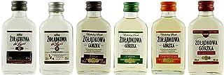 Geschenkset 6 x odkowa Gorzka Minis in der Probiergröße | Polnischer Wodka | je 0,1 Liter