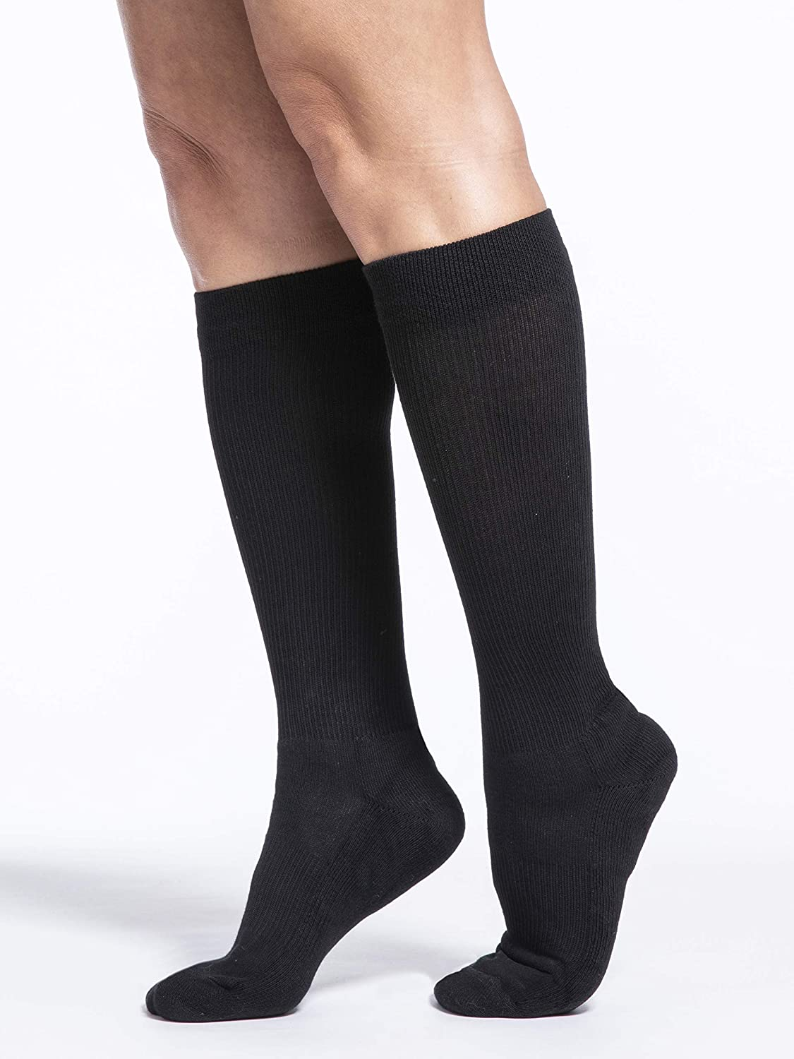 SIGVARIS Women's Motion Cushioned Cotton Closed 55% OFF Toe Calf-Hig Clearance SALE! Limited time! 360