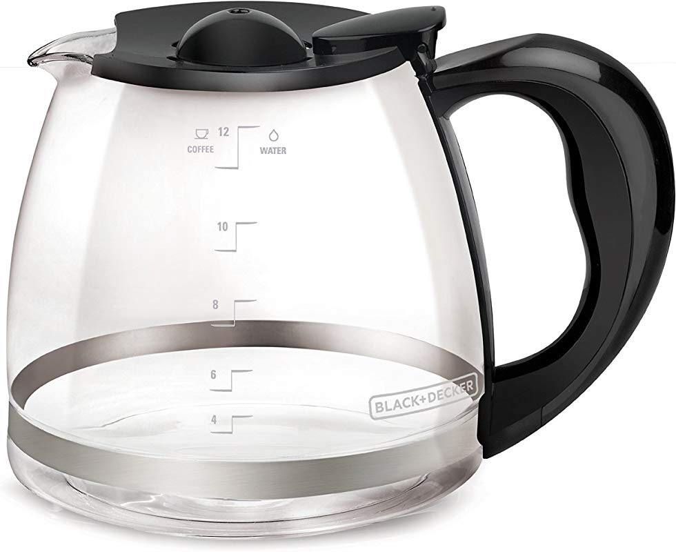BLACK DECKER 12 Cup Replacement Carafe With Duralife Construction Glass GC3000B