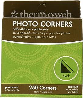 Thermoweb PC250-3867 Photo Corner Boxed, Black, 250-Pack