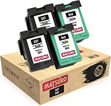Matsuro Original | Compatible Remanufactured Cartuchos de Tinta Reemplazo para HP 337 343 (2 Sets)