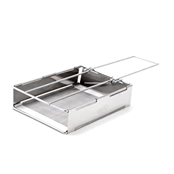 GSI Outdoors Glacier Stainless Steel Toaster That's Collapsible and Hand-Held for Camping