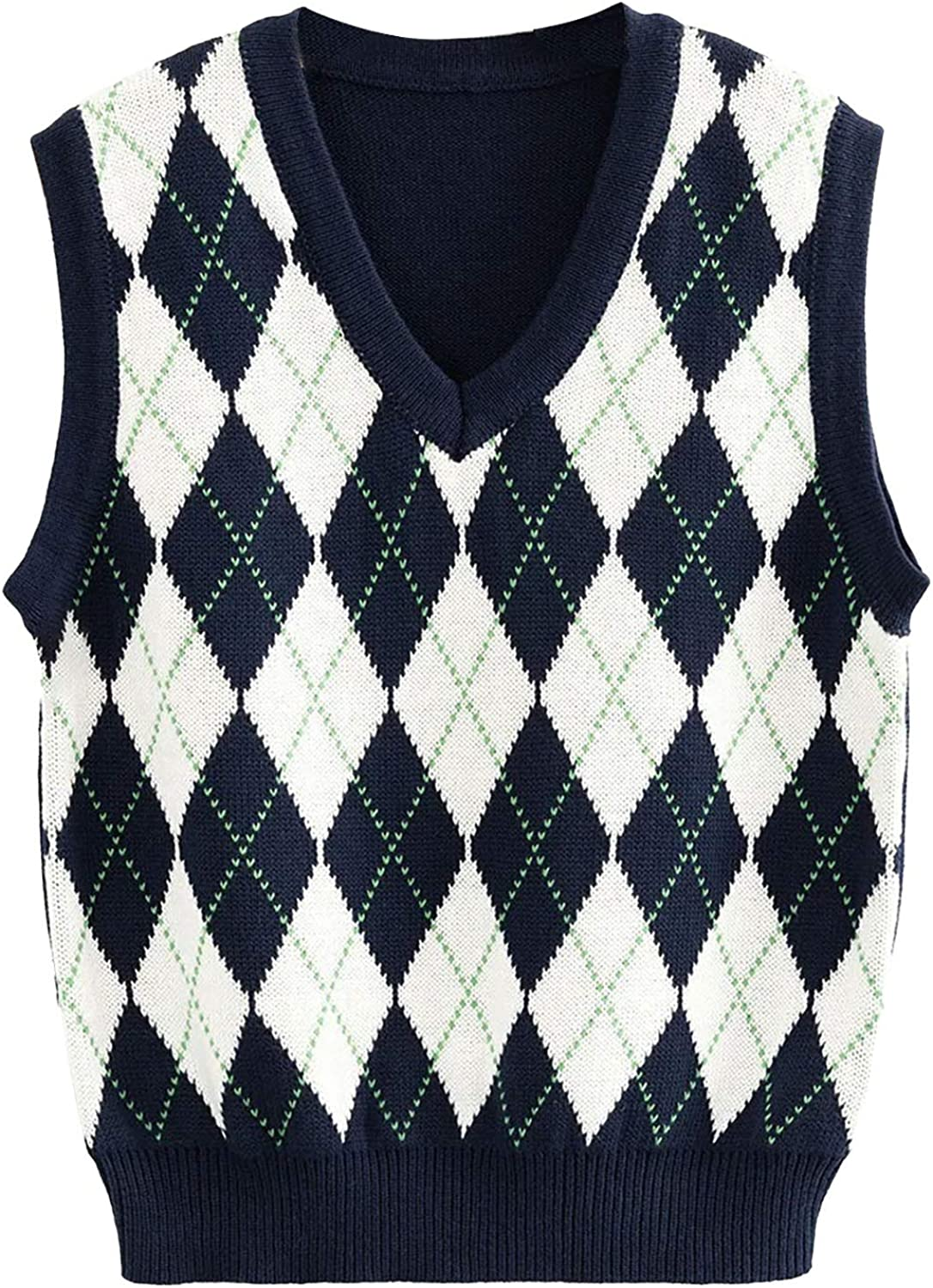 Clothes for Women,Women's Sweater New Women's Round Neck Sweater Top Sleeveless Vest Gift