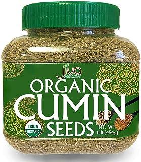 Jiva Organics Organic Cumin Seeds Whole 1 Pound Jar - Non-GMO