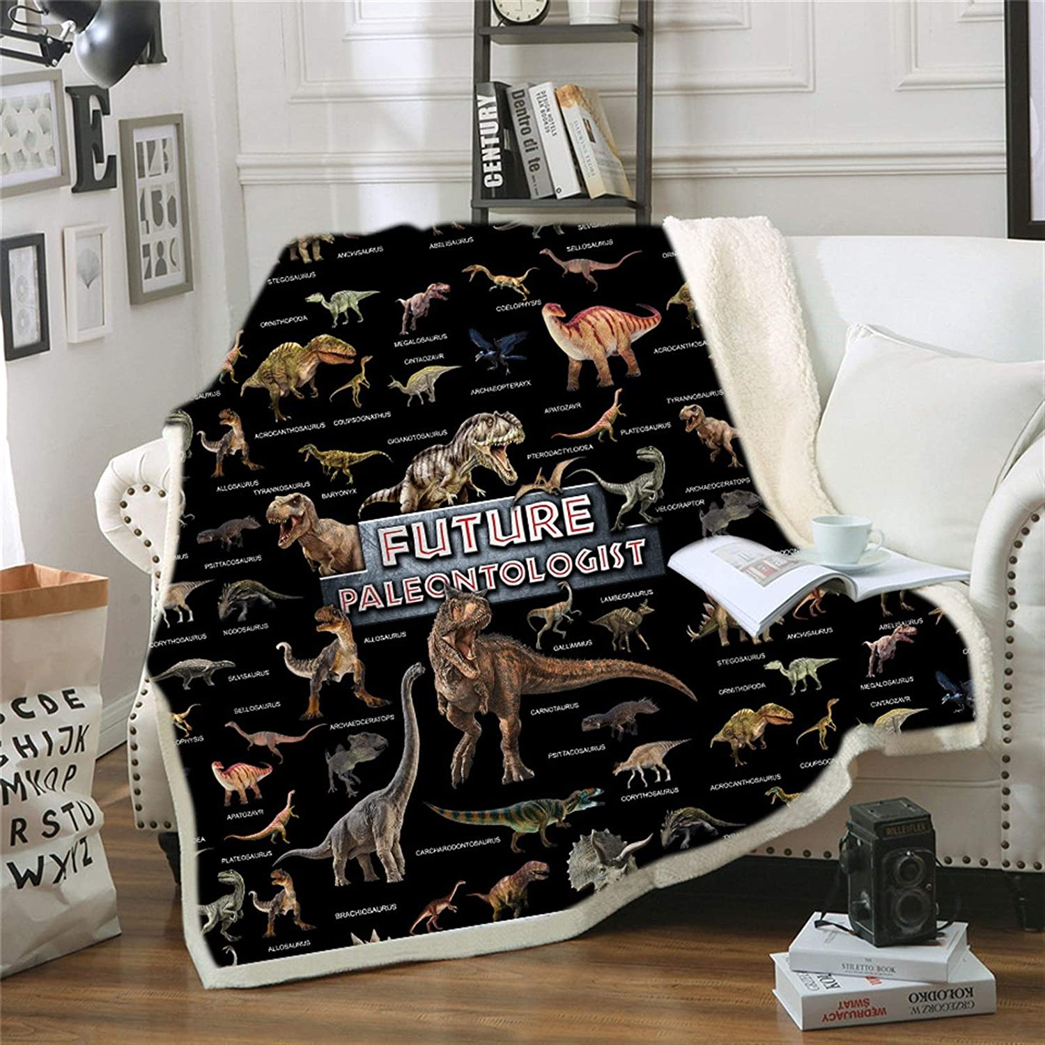 Soft Dinosaur Throw Limited price sale Blanket for Kids Fluffy Warm She Cozy Plush Sale