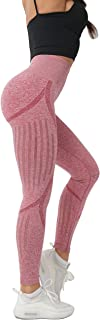 LOFHAS Women's High Waist Seamless Leggings Ankle Yoga Pants Squat Proof Tights