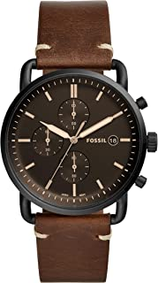 FOSSIL Men's FS5403 Year-Round Chronograph Quartz Brown Band Watch