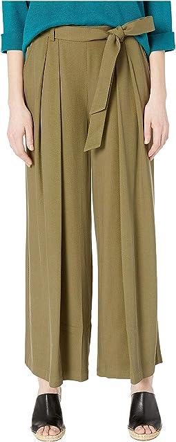 Wide Leg Pants w/ Belt