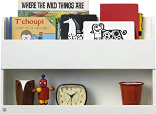 Tidy Books ® Estante para cama litera  | Estanterias flotantes | Librería infantil | Madera | Blanca | 33 x 53 x 12 cm | ECO friendly | Hecho a mano | Original Bunk Bed Buddy™