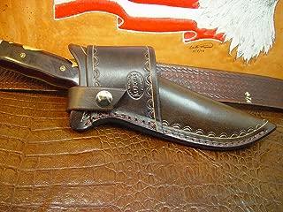 Buck 124 Cross Draw Knife Sheath Made Out of Buffalo Hide Leather.