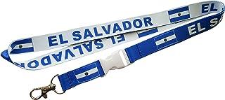 El Salvador 双面挂绳,配有可拆卸带扣和夹子,用于存放钥匙或身份证。 非常适合用于汽车钥匙、房钥匙或身份证徽章。