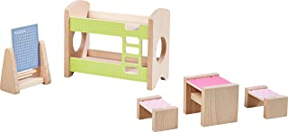 HABA Little Friends – Dollhouse Furniture Set Children's Room for Two | Wooden Dolls House Furniture | 303836