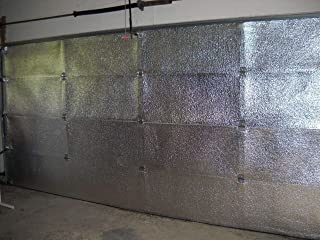US Energy Products 2 Car Two Car Garage Door Insulation Kit (16'x7' or 16'x8') (Foil Finish) Includes: Reflective Foam Core Insulation (120 sq ft), Razor Knife, Squeegee, Double Adhesive Tape.
