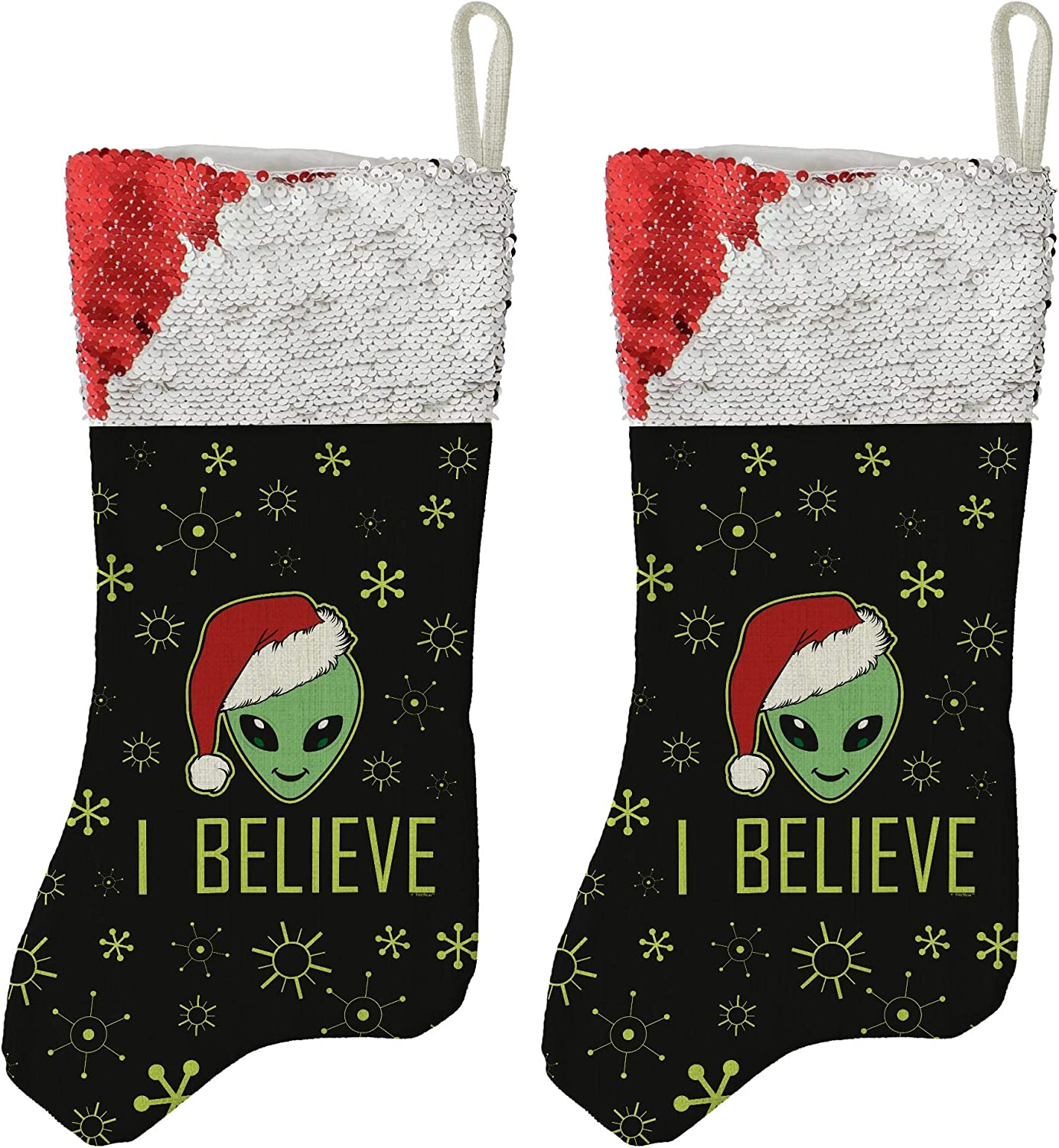 Christmas Party Decor Paranormal UFO Believe Max 85% OFF Denver Mall Alien I 2