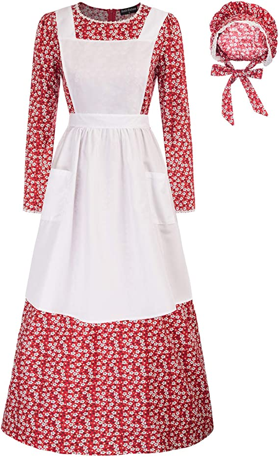 1920s Outfit Ideas: 10 Downton Abbey Inspired Costumes Pioneer Women Floral Prairie Dress Deluxe Colonial Dress Laura Ingalls Costume $39.99 AT vintagedancer.com