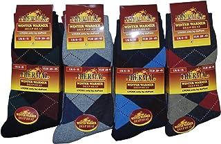 12 Pairs Mens Thermal Thick Winter Socks in Various Designs Size UK 6-11 EUR 39-45