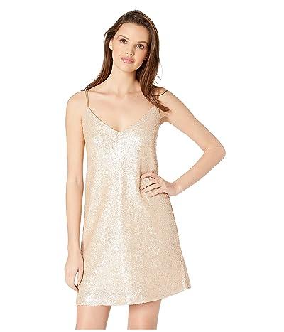 Jack by BB Dakota Sedgwick Sequin Slip Dress (Pale Gold) Women