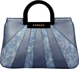 ESBEDA Blue Color Medium Size Shiny Glitter Armbag For Womens