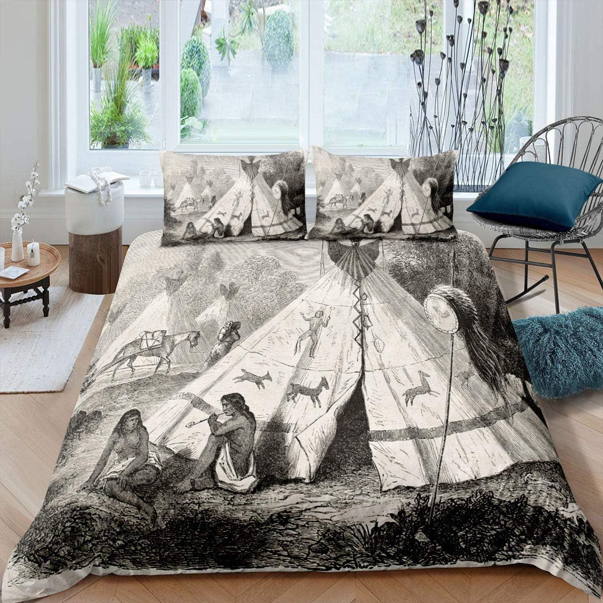 Erosebridal Deer 再再販 新作送料無料 Bedding Set Primitive Life for Cover Comforter