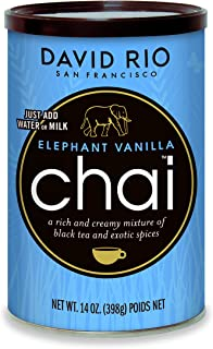 David Rio Chai Mix, Elephant Vanilla, 14 Ounce / 398g -