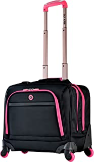 Business Rolling Tote, Black/Pink