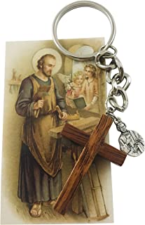 St Joseph The Worker New Home Protection Set with Key Chain and Holy Card