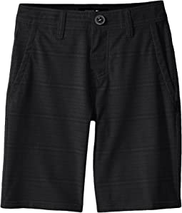Locked Stripe Hybrid Shorts (Big Kids)