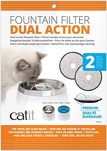 Catit 50029 Dual Action Replacement Filters, 2 Count (Pack of 1)