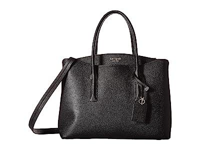 Kate Spade New York Margaux Large Satchel (Black) Satchel Handbags