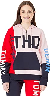 Tommy Hilfiger Women's Adaptive Hoodie Sweatshirt with Extended Zipper Pull