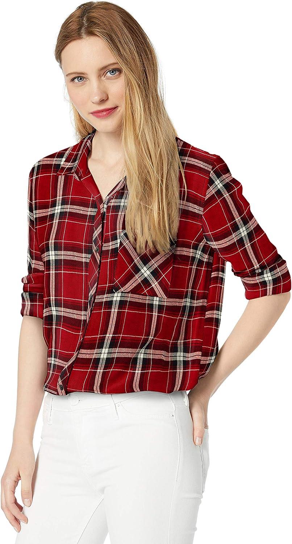 Rails Hunter Plaid Button Down Shirt navy rouge Long sleeves SZ XS S M